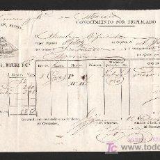 Líneas de navegación: .CONOCIMIENTO DE EMBARQUE VAPOR ESPAÑOL -PILEY- DESTINADO A SANTANDER, . Lote 11469793