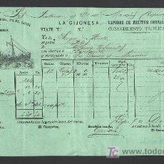 Líneas de navegación: .CONOCIMIENTO DE EMBARQUE VAPOR ESPAÑOL -PILES- DESTINO SANTANDER, . Lote 11469802