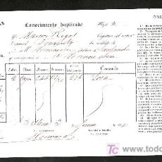 Líneas de navegación: .CONOCIMIENTO DE EMBARQUE VAPOR ESPAÑOL -FOMENTO- DESTINO SANTANDER. Lote 10696187