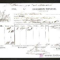 Líneas de navegación: .CONOCIMIENTO DE EMBARQUE VAPOR ESPAÑOL -DURO- DESTINO SANTANDER. Lote 10796551