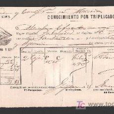 Líneas de navegación: .CONOCIMIENTO DE EMBARQUE VAPOR ESPAÑOL -PALMIRA- DESTINO SANTANDER. Lote 10796553