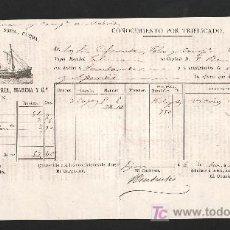 Líneas de navegación: .CONOCIMIENTO DE EMBARQUE VAPOR ESPAÑOL -PALMIRA- DESTINO SANTANDER. Lote 10696190