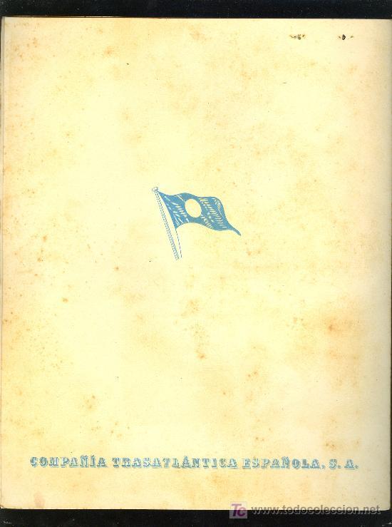 Líneas de navegación: MENÚ. V.C MARQUES DE COMILLAS. 1957. COMPAÑIA TRASATLANTICA ESPAÑOLA, S.A. - Foto 4 - 8702239