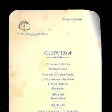 Líneas de navegación: MENÚ. V.C MARQUES DE COMILLAS. 1957. COMPAÑIA TRASATLANTICA ESPAÑOLA, S.A.. Lote 9079954