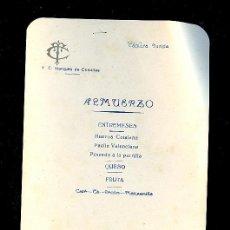 Líneas de navegación: MENÚ. V.C MARQUES DE COMILLAS. 1958. COMPAÑIA TRASATLANTICA ESPAÑOLA, S.A.. Lote 9079969