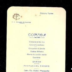 Líneas de navegación: MENÚ. V.C MARQUES DE COMILLAS. 1957. COMPAÑIA TRASATLANTICA ESPAÑOLA, S.A.. Lote 9079971