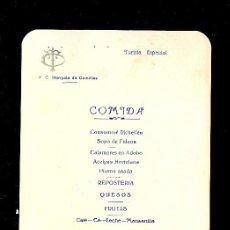 Líneas de navegación: MENÚ. V.C MARQUES DE COMILLAS. 1958. COMPAÑIA TRASATLANTICA ESPAÑOLA, S.A.. Lote 9079974