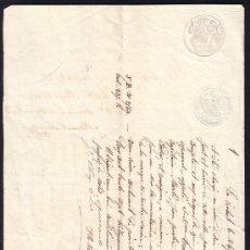 Líneas de navegación: CARTA DE CONOCIMIENTO DE EMBARQUE Y FLETE FRANCIA A CADIZ AÑO 1852 MANUSCRITA EN FRANCES. Lote 24027849