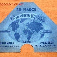 Líneas de navegación: DOCUMENTO PUBLICITARIO DE AIR FRANCE 14 X 12 CM.. Lote 22068983
