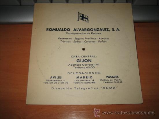 ROMUALDO ALVARGONZALEZ GIJON DISTANCIAS ENTRE PUERTOS (Coleccionismo - Líneas de Navegación)