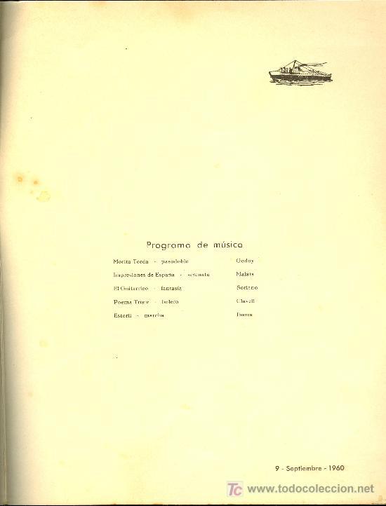 Líneas de navegación: COMPAÑIA TRASATLANTICA ESPAÑOLA. MENU. MONTANAVE COVADONGA. AÑO 1960 - Foto 3 - 10227533
