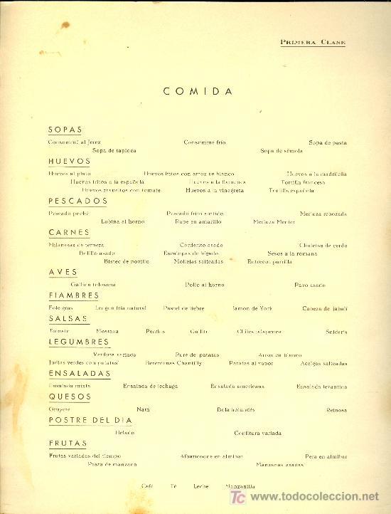 Líneas de navegación: COMPAÑIA TRASATLANTICA ESPAÑOLA. MENU. MONTANAVE COVADONGA. AÑO 1960 - Foto 3 - 21268084