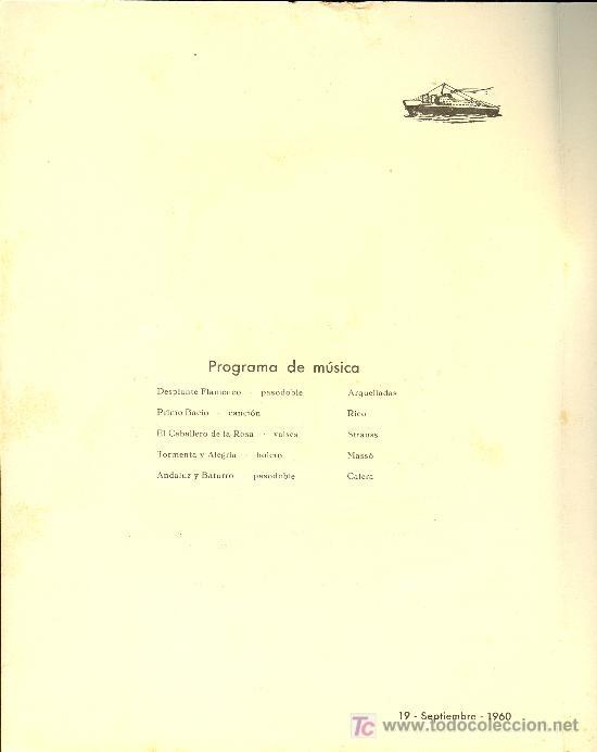 Líneas de navegación: COMPAÑIA TRASATLANTICA ESPAÑOLA. MENU. MONTANAVE COVADONGA, AÑO 1960 - Foto 2 - 10228796