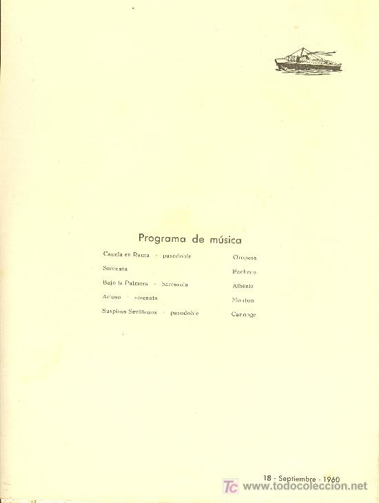 Líneas de navegación: COMPAÑIA TRASATLANTICA ESPAÑOLA. MENU. MONTANAVE COVADONGA, AÑO 1960 - Foto 2 - 10228827