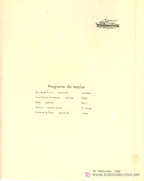 Líneas de navegación: COMPAÑIA TRASATLANTICA ESPAÑOLA. MENU. MONTANAVE COVADONGA, AÑO 1960 - Foto 2 - 10228830