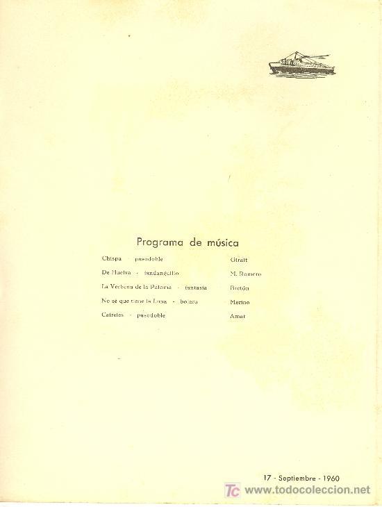 Líneas de navegación: COMPAÑIA TRASATLANTICA ESPAÑOLA.MENU.MONTANAVE COVADONGA. AÑO 1960 - Foto 2 - 10229583