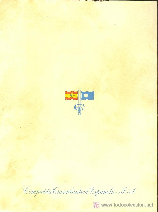 Líneas de navegación: COMPAÑIA TRASATLANTICA ESPAÑOLA. MENU. MONTANAVE COVADONGA, AÑO 1960 - Foto 4 - 10228796