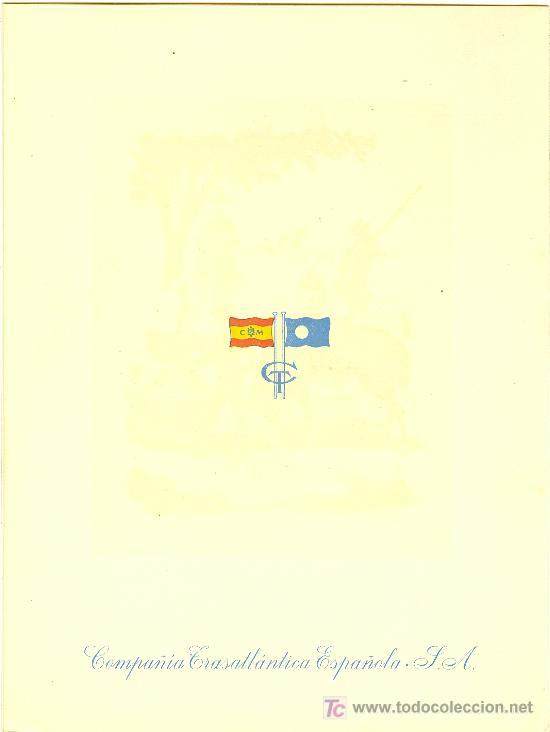 Líneas de navegación: COMPAÑIA TRASATLANTICA ESPAÑOLA.MENU.MONTANAVE COVADONGA. AÑO 1960 - Foto 4 - 10229909