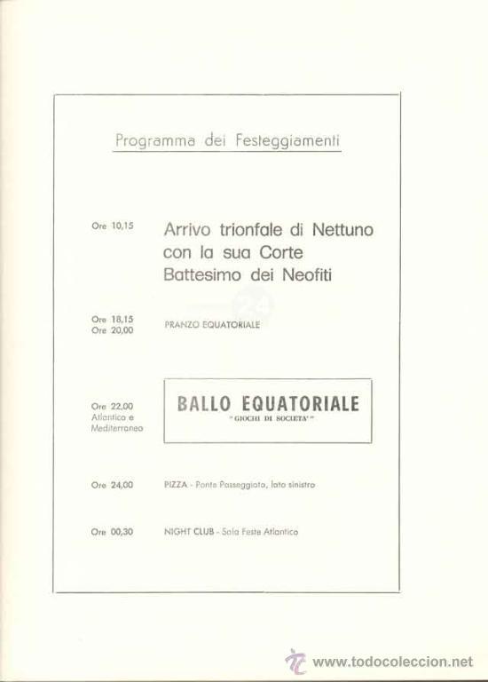 Líneas de navegación: Programa De Festejos Del Barco Cristoforo Colombo - acuarelista ALDO RAIMOINDI - Setiembre 1976 - Foto 5 - 27330514