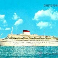 Líneas de navegación: MENÚ BARCO CRISTOFORO COLOMBO-ACUARELISTA:ALDO RAIMONDI-25 AGOSTO 1976 CRUCE DEL ECUADOR.. Lote 97790335