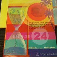 Líneas de navegación: PROGRAMA DEL DIA 24 AGOSTO 1976 DEL BARCO CRISTOFORO COLOMBO.. Lote 26704549