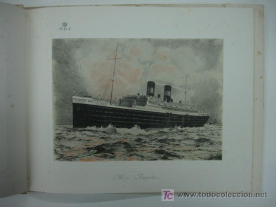 Líneas de navegación: CATÁLOGO DEL BUQUE AUGUSTUS, NAVIGAZIONE GENERALE ITALIANA. CON 11 LÁMINAS. 28 X 26 CM. 1927. - Foto 5 - 12980804