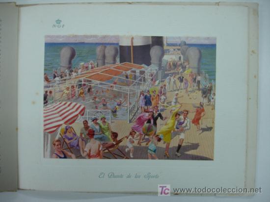 Líneas de navegación: CATÁLOGO DEL BUQUE AUGUSTUS, NAVIGAZIONE GENERALE ITALIANA. CON 11 LÁMINAS. 28 X 26 CM. 1927. - Foto 4 - 12980804
