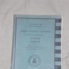 Lignes de navigation: CURIOSO LIBRO - RADIO FACILITY CHARTS -. MAPAS DE LOS AEROPUERTOS DE TODO EL MUNDO. AÑO 1959.. Lote 25148173