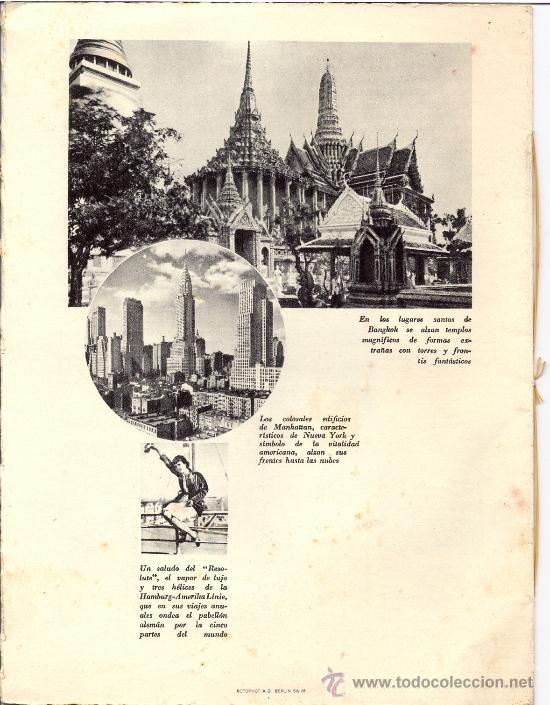 Líneas de navegación: Folleto Vuelta al Mundo. Vapor de lujo. Año 1932 - Foto 2 - 27324705