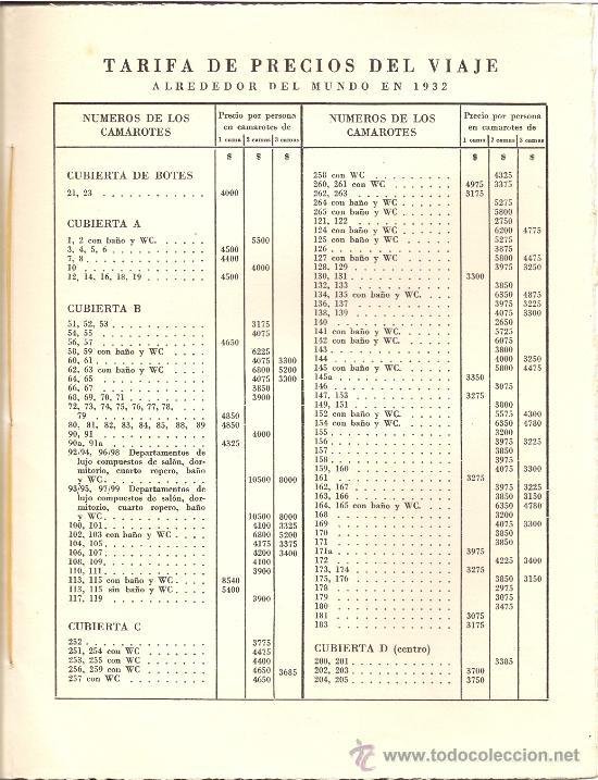 Líneas de navegación: Folleto Vuelta al Mundo. Vapor de lujo. Año 1932 - Foto 3 - 27324705