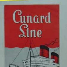 Líneas de navegación: CUNARD LINE. LA FLOTTE CUNARD. 1957.. Lote 14215505