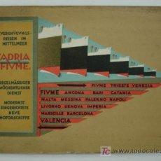 Líneas de navegación: 'ADRIA' SOCIEDAD ANONIMA DE NAGEVACION MARITIMA - FIUME. CATÁLOGO LINEA DE NAVEGACION ADRIA - FIUME.. Lote 15914156