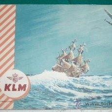Líneas de navegación: LIBRO RUTA DE LA COMPAÑIA DE AVIACION KLM DE LOS AÑOS 50. Lote 26626621