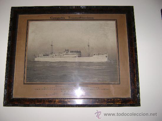 BARCO.MOTONAVE CIUDAD DE VALENCIA (Coleccionismo - Líneas de Navegación)