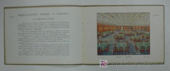 Líneas de navegación: ORAZIO Y VIRGILIO. NAVIGAZIONE GENERALE ITALIANA. BUQUES MOTORES DE 11600 TONS CON DOS HÉLICES. - Foto 3 - 17730367