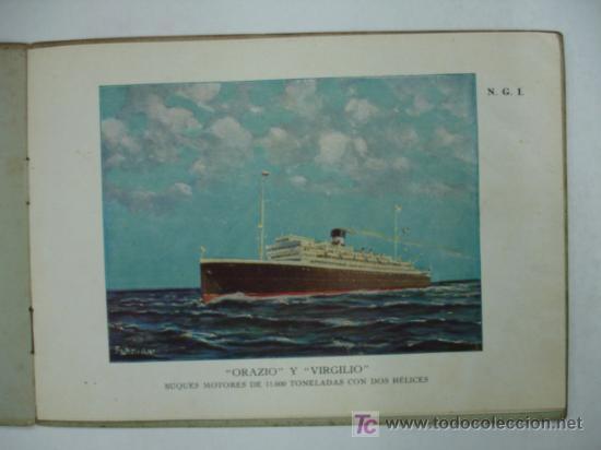 Líneas de navegación: ORAZIO Y VIRGILIO. NAVIGAZIONE GENERALE ITALIANA. BUQUES MOTORES DE 11600 TONS CON DOS HÉLICES. - Foto 2 - 17730367