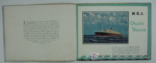 Líneas de navegación: ORAZIO Y VIRGILIO. NAVIGAZIONE GENERALE ITALIANA. MEDITERRANEO, CENTRO AMERICA, SUD PACIFICO. - Foto 3 - 25715735