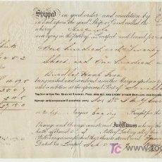 Líneas de navegación: CONOCIMIENTO DE EMBARQUE DEL NAVIO DOLORES.DE LIVERPOOL A SEVILLA. LIVERPOOL 1849. SELLO EN SECO-. Lote 19485948