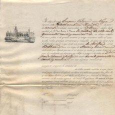 Líneas de navegación: CONOCIMIENTO DE EMBARQUE.SEVILLA A BILBAO EN LA GOLETA JUANITA.CARGA DE ACEITE Y LOZA. AÑO 1849 -. Lote 19601221