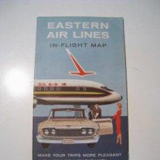 Líneas de navegación: EASTERN AIR LINES - MAPA DE RUTAS. Lote 19841648