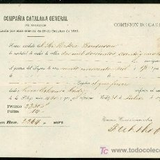 Líneas de navegación: SEGUROS. COMPAÑIA CATALANA GENERAL. 1859.. Lote 19935510