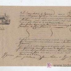 Líneas de navegación: CONOCIMIENTO DE EMBARQUE DE SEVILLA A BILBAO EN EL BERGANTÍN SABINA.AÑO 1850. CON CARGA DE -. Lote 20449854