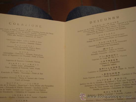 "Líneas de navegación: CARTA DE RESTAURANTE- PIROSCAFO ""dUILIO"" -1932 - Foto 2 - 24494664"