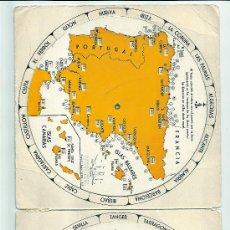 Linhas de navegação: TABLAS DE DISTANCIAS MARITIMAS DE ESPAÑA- CON PUBLICIDAD DE A. PAQUET.. Lote 24812460