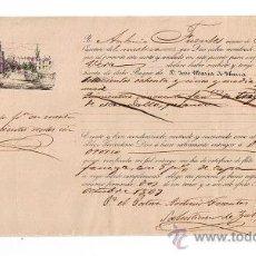 Líneas de navegación: CONOCIMIENTO DE EMBARQUE. DE SEVILLA A VERA. EN EL MÍSTICO MANOLITA CON CARGA SETECIENTOS OCHEN-. Lote 21652540