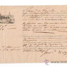 Líneas de navegación: CONOCIMIENTO DE EMBARQUE.DE SEVILLA A BILBAO EN EL BERGANTÍN BASILIA CON CARGA DE DOS FARDOS CON . Lote 21653775