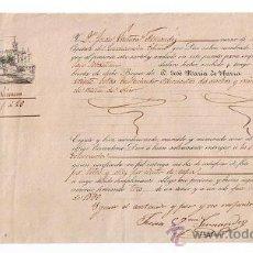 Líneas de navegación: CONOCIMIENTO DE EMBARQUE DE SEVILLA A SAN SEBASTIÁN,EN EL CATAMARÁN VENUS,CON CARGA DE VEIN-. Lote 21654059