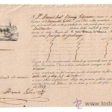 Líneas de navegación: CONOCIMIENTO DE EMBARQUE.DE SEVILLA A SANTANDE EN EL BERGANTÍN GOLETA NUEVA LUZ CON CARGA DE . Lote 21657122