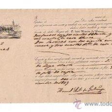 Líneas de navegación: CONOCIMIENTO DE EMBARQUE. DE SEVILLA A (BILBAO). EN EL BUQUE DE D. JOSÉ MARÍA DE IBARRA (?) CON. Lote 21768686