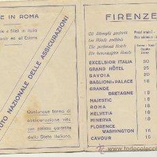 Líneas de navegación: LIBRITO DE PUBLICIDAD HOTELERA DE ROMA.CON MAPA PLEGABLE (43X31) ITINERARIUM. AÑO SANTO 1933.. Lote 21881350
